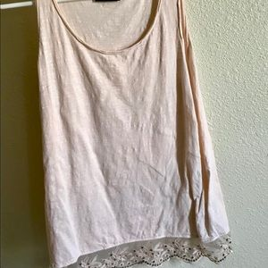 Tank Top with Lace Bottom